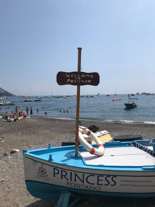 The beach at Positano